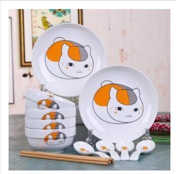 碗筷餐具碗碟套裝可愛卡通面碗湯碗碗具家用米飯碗日式
