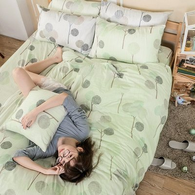 床包 / 雙人特大【晨曦之柏】含兩件枕...