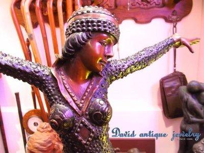 ((天堂鳥)) 古董1900~1940年代 AUG MOREAU(A‧Moreau)跳舞女郎|一律不二價