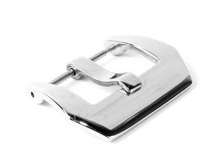 潛水錶帶用手錶扣 不鏽鋼手錶針扣 – 拋光亮面銀扣22mm FA~46737