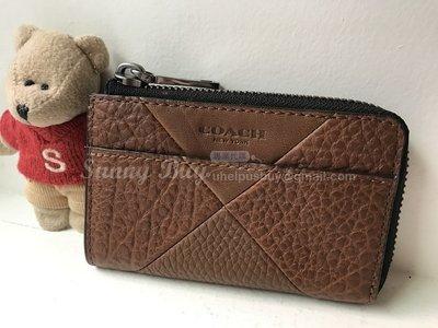 【Sunny Buy精品館】◎現貨賠售◎Coach 66190 專櫃款 咖啡色皮革拼布鑰匙包零錢包卡夾包證件包 名片夾
