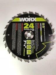 WORX 威克士 71/4 185MM 孔16 圓鋸片 24T 圓鋸機適用