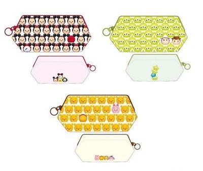 尼德斯Nydus~* 日本正版 迪士尼 Q版 TSUM 米奇 米妮 玩具總動員 維尼 零錢包 化妝包 20x10x8cm