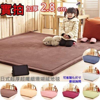 ☆GO 划算 ☆ 免運 190X240 超纖細 珊瑚絨 加厚地毯 地墊 爬行墊 十色可選