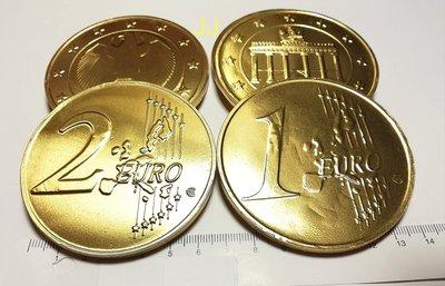巧克力金幣 歐元大金幣 代可可巧克力-8片裝-拜拜 萬聖 聖誕 春節-台灣製造-團購糖果批發