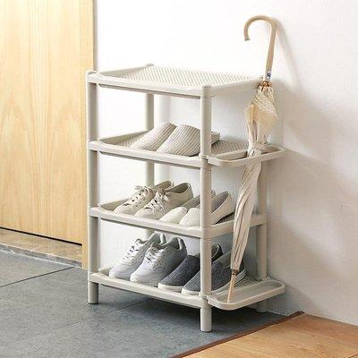 鞋架多層簡易鞋架雨傘收納架塑料組裝鞋架子