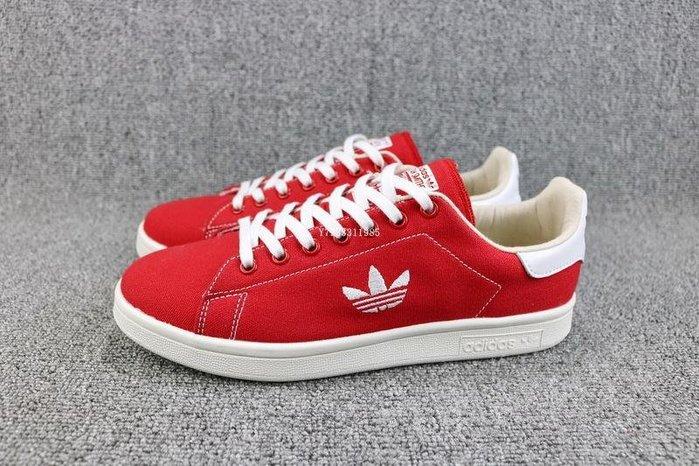 Adidas Stan Smith 紅白 經典 帆布 休閒滑板鞋 男女款 B37894
