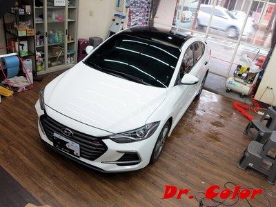 Dr. Color 玩色專業汽車包膜 Hyundai Elantra 類全景式天窗