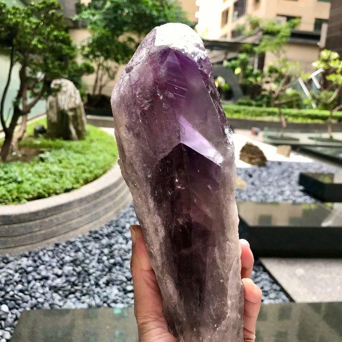 紫水晶權杖  大隻 1338克 25x8公分骨幹水晶 祭壇水晶 電路板 量少 編號S1010