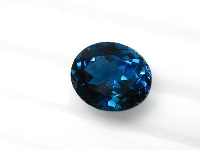 【Texture & Nobleness 低調與奢華】天然寶石 TOPAZ 托帕石 倫敦藍托帕石 5.13克拉