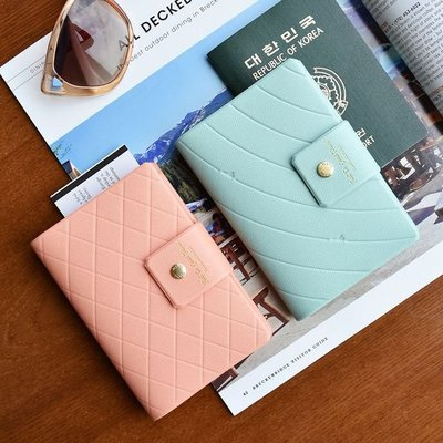 ❅PAVEE❅ 韓國plepic~ Travel Air Pocket 好感覺 優雅壓紋 皮革護照夾/護照套