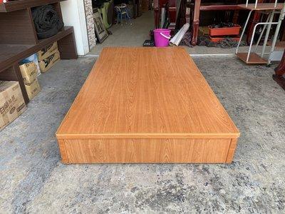 香榭二手家具*柚木色單人加大3.5x6.2尺 三分底床箱-床板-床底-床框-單人床-床架-床組-床檯-寢具-套房床組 台中市