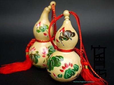 竹香坊【小型花開富貴彩繪葫蘆】天然種植葫蘆、花開富貴、開運風水( 約 8~12CM )