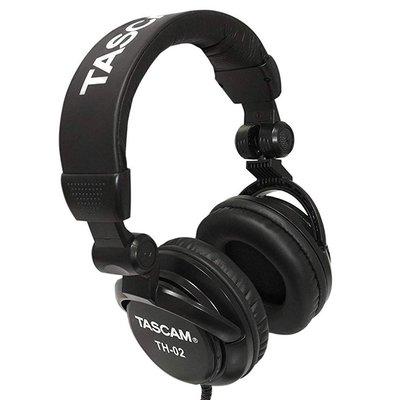 【免運】台灣公司貨 TASCAM TH-02 耳罩式耳機 頭戴式耳機 封閉式 耳機 監聽耳機 達斯冠