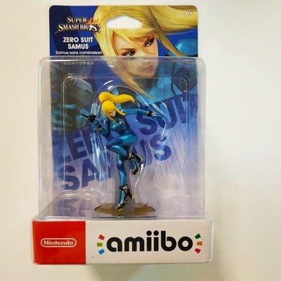 全新 Nintendo Switch Amiibo Zero Suit Samus 零裝甲薩姆斯 (Super Smash Bros Series)