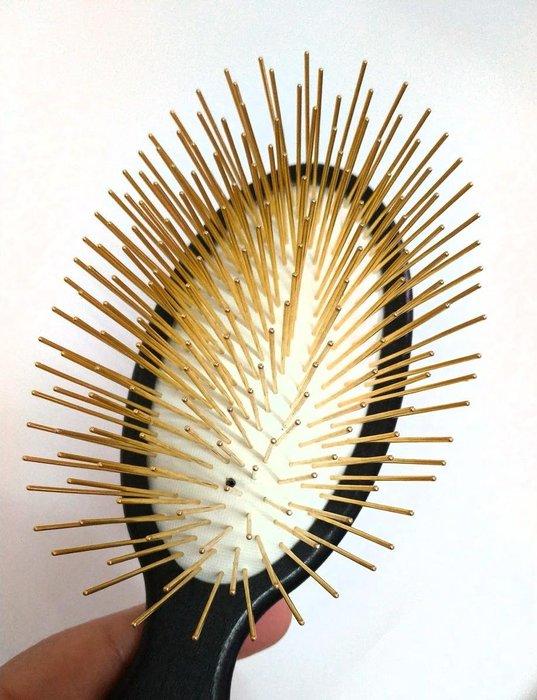美國 克莉斯汀森 克莉思汀森  A035G 黃金圓柄梳 克莉絲汀森