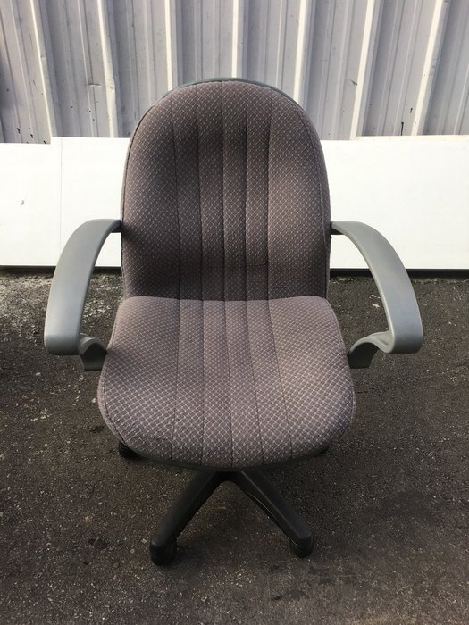 非凡二手家具 灰色布面有扶手辦公椅*電腦椅*主管椅*會計椅*升降椅*洽談椅*接待椅*秘書椅*課椅*接洽椅*皮椅