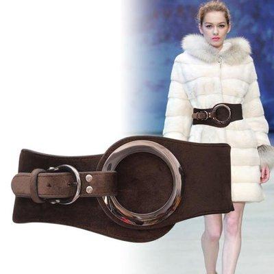 腰封 羽絨服女裝飾冬季鬆緊彈力皮帶時尚簡約百搭 YY4543