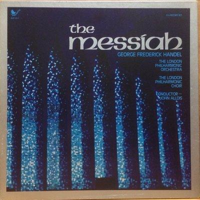 LP 黑膠唱片 Handel The Messian The London Philharmonic Orchestra John Alldis 4 LP US