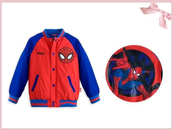 【童夢屋】DISNEY迪士尼.蜘蛛人sprider man外套.棒球外套.9-10T.4221324847~10