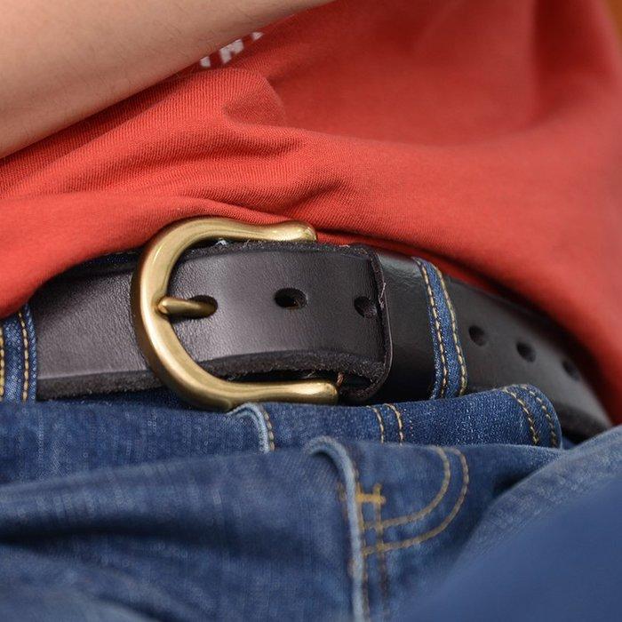 ~皮皮創~原創設計手作真皮皮帶。意大利植糅牛皮腰帶復古做舊腰帶植鞣革皮帶男士真皮皮帶