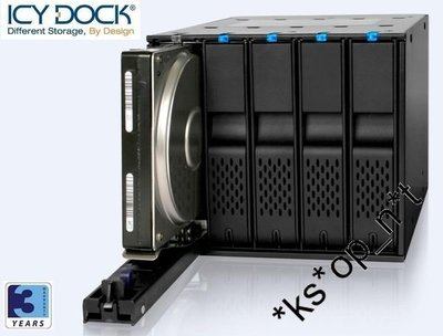 {MPower} 台灣名廠 ICY Dock MB975SP-B R1 專業級 5 Bay SATA SAS HDD Mobile Rack (免工具) - 原裝行貨