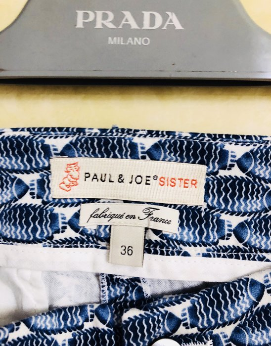 PAUL & JOE SISTER 復古風印花窄管褲👖