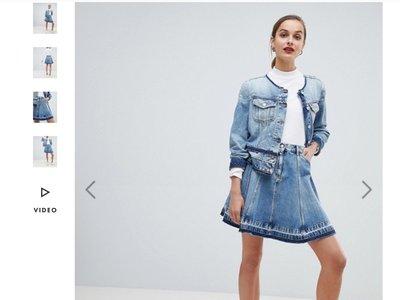 年終破盤價 真品 Emporio Armani 牛仔裙  eu38 國外購價175英鎊 約7000  保證真品 假賠十倍