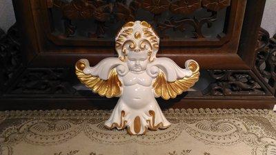 歐洲宮廷藝術精品- 維多利亞 巴洛克 掛飾 貼壁式 小天使  手工描金WD_52525-HD@$1290