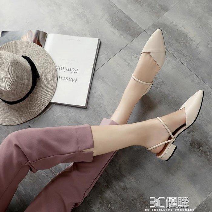 【瘋狂夏折扣】半拖鞋 拖鞋女夏新款外穿時尚港風涼拖兩穿懶人包頭半拖網紅平底涼鞋