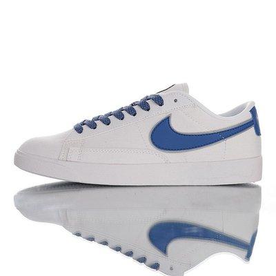 NIKE SB BLAZER CANVAS LOW PREMIUM 3M 低筒休閒運動板鞋「白寶藍」AV9371-413