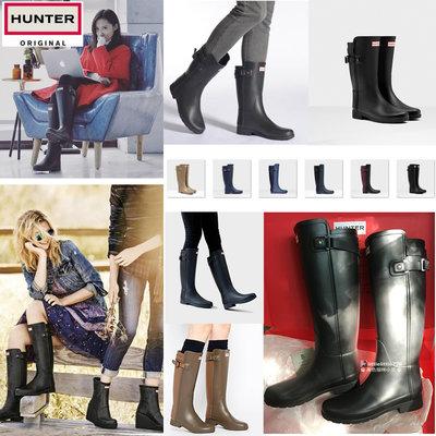 英國代購 Hunter 雨鞋 Refined slim 經典 霧黑 惠靈頓 獵人靴 時尚防水舒適高長筒 女雨靴