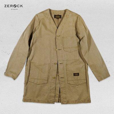 《ZEROCK》NEIGHBORHOOD 16AW N.C.DEALER/C.COAT 卡其長版圓領夾克 L號