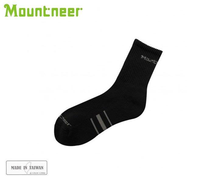 丹大戶外【Mountneer】山林休閒 奈 米礦物能氣墊長襪 12U06-01 黑