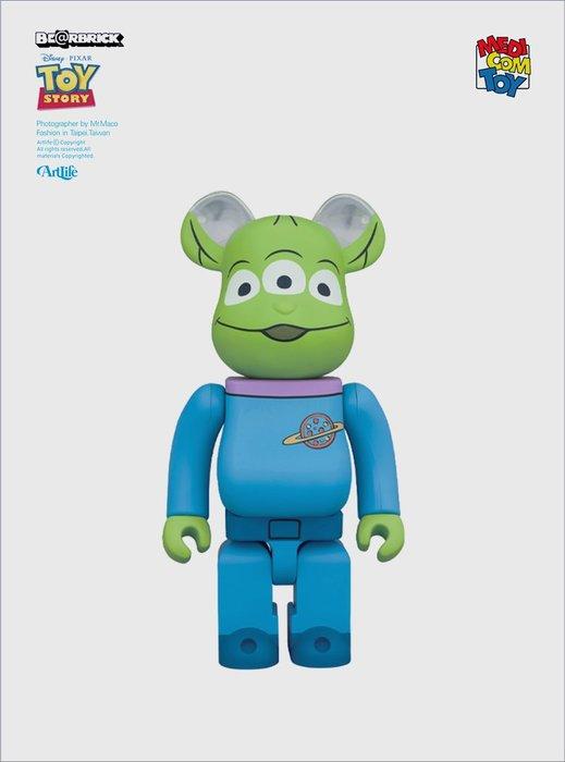 Artlife @ MEDICOM BE@RBRICK 1000% ALIEN 玩具總動員 三眼怪