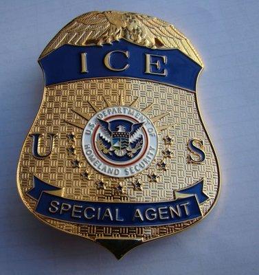 美國徽章 美國安全 移民與徽章  金屬大徽章 純銅