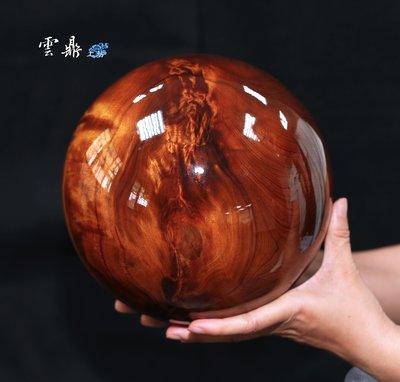 正台灣三峽肖楠 高海拔頂級紅黑油格黃金閃電榴花大樹榴根倒格木精華車製 8吋聚寶大貢珠 收藏級