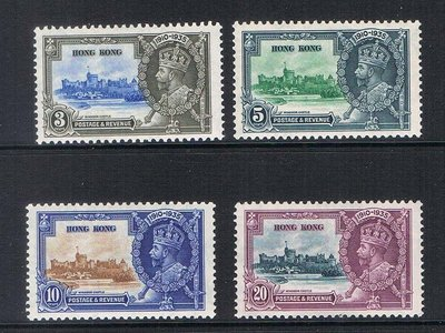 【雲品】香港China Hong Kong 1935 Silver Jubilee Sc147-150 set of 4 MH