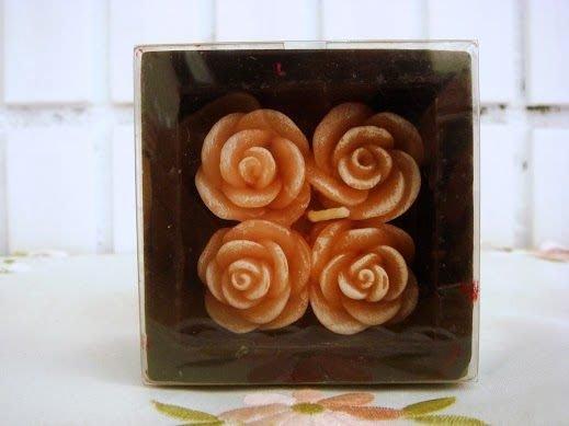 ~蘇菲亞精品傢飾~浮雕玫瑰粉紅色禮盒式蠟燭/婚禮佈置/婚禮小物
