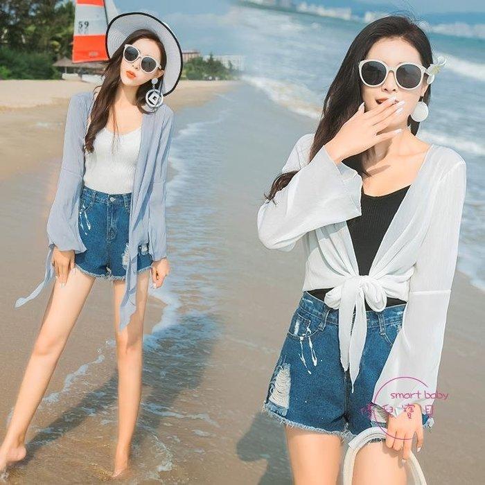 防曬衣女短版薄版夏季新品正韓百搭雪紡長版開衫外套冷氣衫 一件免運