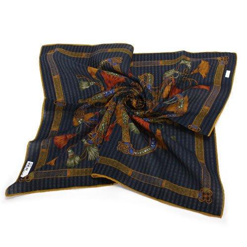 【姊只賣真貨】Christian Dior巴洛克風字母裝飾領帕巾(藍)