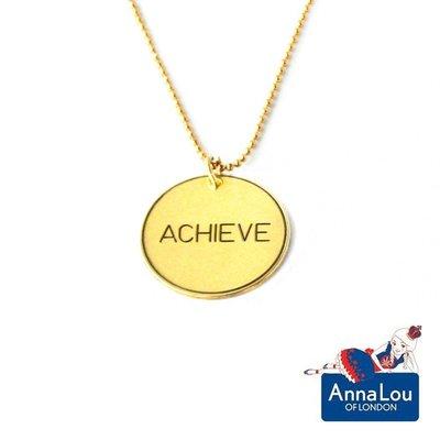 Anna Lou OF LONDON 台北ShopSmart直營店 倫敦品牌 優雅字墜 金項鍊 Achieve