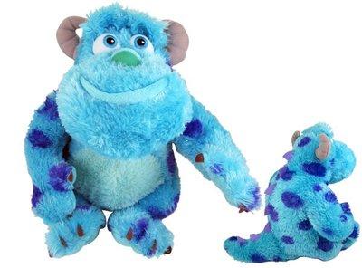 【卡漫迷】 毛怪 33cm 玩偶 坐姿 長毛款 ㊣版 Sulley 怪獸大學 電力公司 絨毛娃娃 擺飾佈置 MU 金蔥