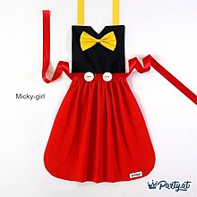**party.at** 迪士尼 米奇 女孩兒童圍裙(有男孩款)2-8Y 聖誕節服裝 聖誕節 蝙蝠俠 蜘蛛人 超人 米妮