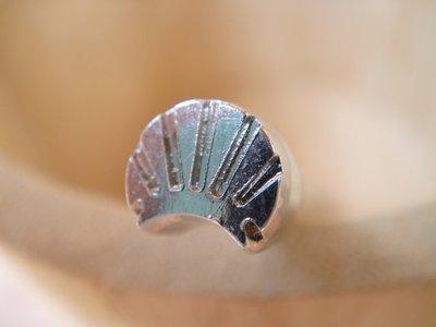 老約翰 皮雕 鋼製 印花 打印工具 小貝殼  精細手工鑄造 皮雕材料 皮雕工具
