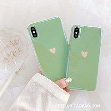 可開發票 手機殼 iPhoneX手機殼薄荷綠愛心XS/Max/XR蘋果X/8Plus/7潮iPhone6s女款6 『愛品質生活館』