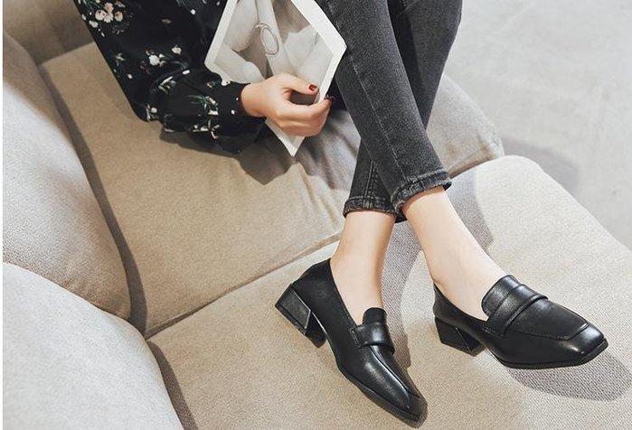 🌺 拿鐵小姐MISS LATTE🌺chic通勤 實用好穿OL英倫風 粗跟中跟百搭 小皮鞋
