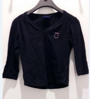 Reebok 女子 慢跑 休閒 棉質 V領 7分袖上衣 T恤-黑M-原價1480