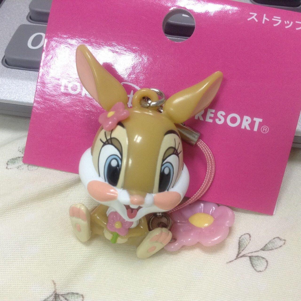 東京迪士尼tokyodisney小花朵造型邦妮兔兔(日本帶回)吊飾 鑰匙圈