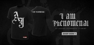 ☆阿Su倉庫☆WWE摔角 AJ Styles I Am Phenomenal T-Shirt AJ超凡入聖最新款 特價中